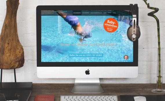 Schwimmschule Potsdam Internetseite